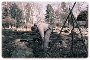 gothic-farmer-digging-garden